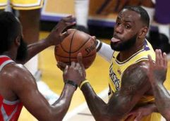 Harden, Paul y Anthony controlan a LeBron y Rockets vencen a Lakers